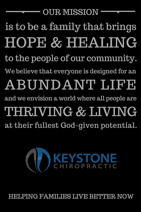 our mission at Keystone Chiropractic in Plano, TX