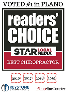Keystone Chiropractic voted best chiropractor in Plano four years in a row